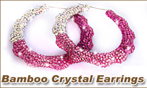 Bamboo Crystal Earrings