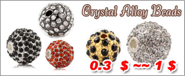 Crystal Alloy Beads