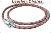European Braided Leather Chains