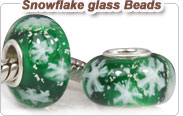 Snowflake glass beads