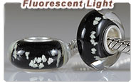 fluorescent glass European beads