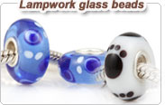 Lampwork glass European beads