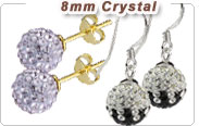 Czech Crystal Ball Stud Earrings