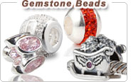 European gemstone beads