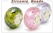 Cubic Zirconia European beads