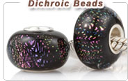 Dichroic European Glass Beads