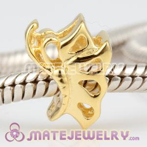 Golde plated Sterling Silver Gracefully Dancing Butterfly Charm Beads fit European Troll Jewelry