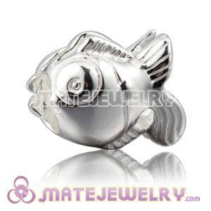 Shiny 925 Sterling Silver Subtropical Fish charm Beads fits European bracelet