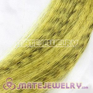 Wholesale Striped Synthetic Yellow Feather Hair Extension