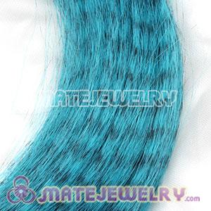 Wholesale Striped Synthetic Blue Feather Hair Extension