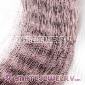 Wholesale Striped Synthetic Brown Feather Hair Extension
