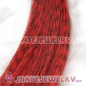 Wholesale Striped Synthetic Red Feather Hair Extension