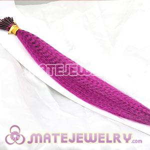 Wholesale Striped Synthetic Pink Feather Hair Extension