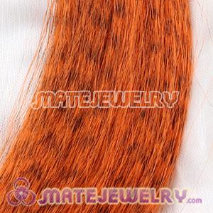 Wholesale Striped Synthetic Orange Feather Hair Extension