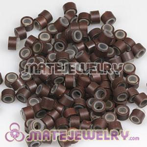 Light Brown Silicone Micro Ring Beads For Hair Extension Wholesale