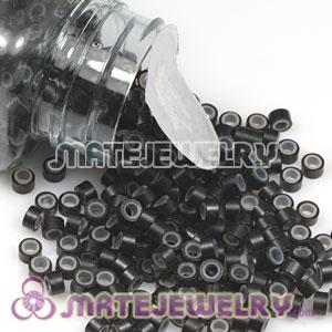 Black Silicone Micro Ring Beads For Hair Extension Wholesale
