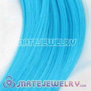 Fashion Cyan Synthetic Feather Hair Extensions Cheap