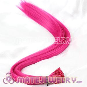 Fashion Magenta Synthetic Feather Hair Extensions Cheap