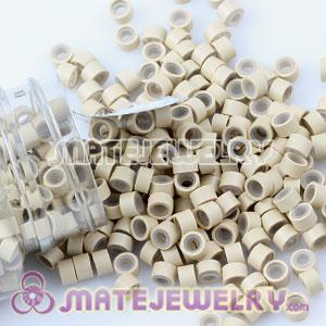 Cream Silicone Micro Ring Beads For Hair Extension Wholesale