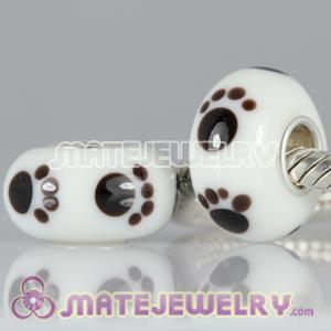 High Quality Lampwork Glass Footprint Beads fit European Lovecharmlinks Jewelry