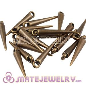 22mm Plated Antique Bronze Spike Beads For Basketball Wives Hoop Earrings