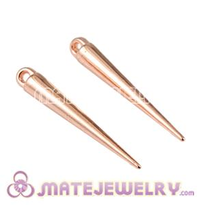 Wholesale 34mm Rose Gold Plated Basketball Wives Spike Earring Beads