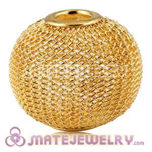 30mm Lagrge Basketball Wives Earrings Gold Mesh Balls Beads