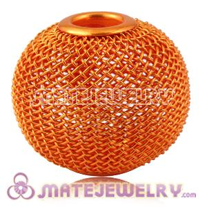 30mm Lagrge Basketball Wives Earrings Orange Mesh Balls Beads