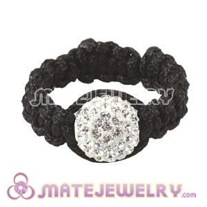 Wholesale Handmade Macrame White Czech Crystal Rings