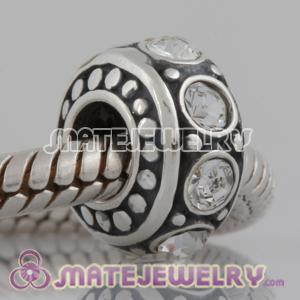 Largehole Jewelry designer silver and Cystal Stone beads