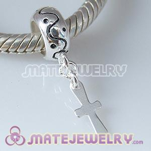 European charms with dangle Latin Cross