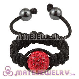 Wholesale Handmade Macrame Red Czech Crystal Rings