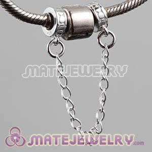European safety chain with safety chain stopper beads