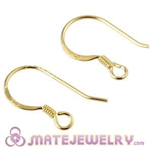 Gold Plated Silver Coil Earring Component Findings