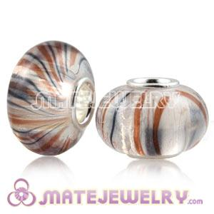 Wholesale 10×15mm 925 Silver Core European Acrylic Crystal Beads