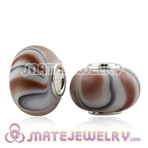 Wholesale 10×15mm 925 Silver Core European Acrylic Beads
