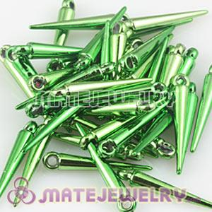 22mm Green Spike Beads For Basketball Wives Hoop Earrings