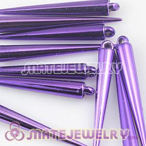 52mm Purple Spike Beads For Basketball Wives Hoop Earrings