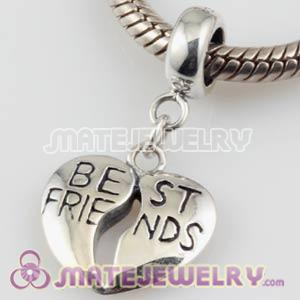 925 Sterling Silver BEST FRIENDS Dangle Charms Wholesale