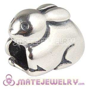 Sterling Silver European Rabbit Charms Beads For Easter Day