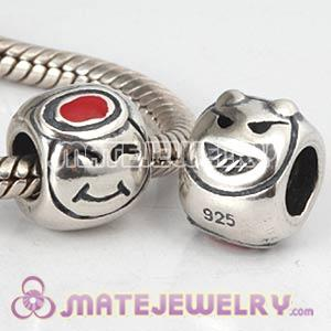 Sterling Silver European Smiley Face Charms Beads Wholesale