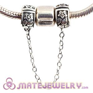 925 Sterling Silver European Style Safety Chain For Bracelets