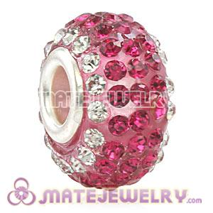 Wholesale European Pave Crystal Bead With Alloy Core