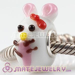 European Handmade Glass Jessica Rabbit Beads In 925 Silver Single Core