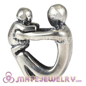 Wholesale Antique Sterling Silver European Paternity Charms Beads