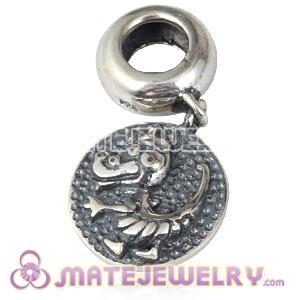 Sterling Silver Chinese Zodiac Dragon Dangle Charm Bead Wholesale