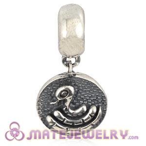 Sterling Silver Chinese Zodiac Snake Dangle Charm Bead Wholesale