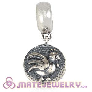 Sterling Silver Chinese Zodiac Rooster Dangle Charm Bead Wholesale