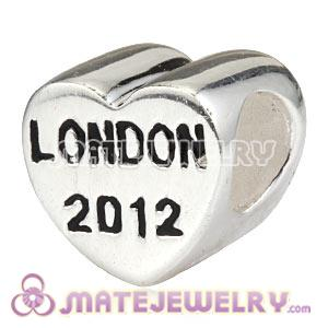 Sterling Silver Heart London 2012 Beads Suit 2012 Olympics European Bracelet