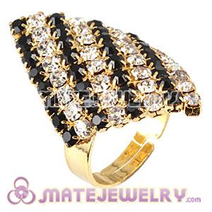 Wholesale Unisex Gold Plated Crystal Diamond Finger Ring